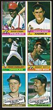 1976 Topps Baseball UNCUT SHEET 6-Cards -*NOLAN RYAN*, MIKE CUELLAR