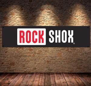 rock shox mtb  Garage Banner PVC Sign, Workshop, office, pit lane, man cave