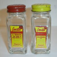 Vintage (2) 1950's Com-ettes Candy Decorations for Cakes & Cookies Glass Jars