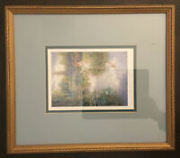 "LYNN GERTENBACH HAND SIGNED PRINT~MONETS LILY POND~FRAMED~MATTED~15""x13""~GLASS"