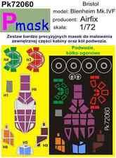 BRISTOL BLENHEIM Mk.IV F CANOPY PAINTING MASK TO AIRFIX KIT #72060 1/72 PMASK