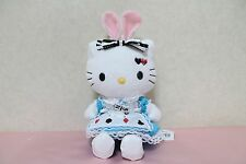 RARE NWT 2010 Hello Kitty Alice in Wonderland Rabbit Bunny Plush FREE S/H