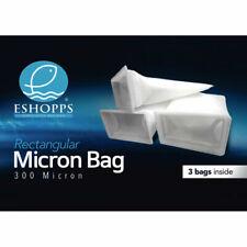 "7"" Rectangle 300 Micron Felt Aquarium Sump Filter Bag Sock Eshopps 3 PACK 29871"