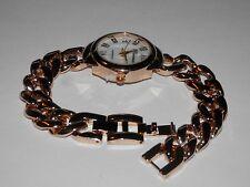 REDUCED Ladies Goldtone Watch ~ Chunky, Curb Link Chain ~ Parmex Brand ~ Quartz