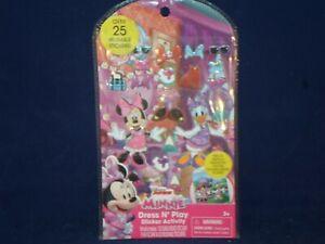 New Disney MINNIE MOUSE Dress N Play Puffy Sticker Activity Kit              C14