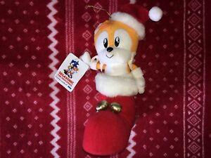 """Xmas SEGASONIC 8"""" TAILS Sonic Plush Toy Doll Japan UFO SEGA Tagged 1994"""