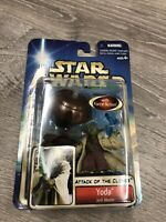 Vintage 2002 HASBRO STAR WARS ATTACK OF THE CLONES YODA ACTION FIGURE New Toy