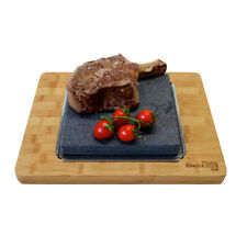Large Sizzling Hot Stone Cooking Steak Table Top Ishiyaki Black Rock Grill