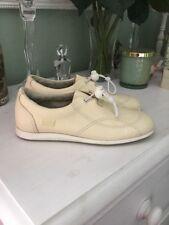 Ladies CAMPER Cream Leather Shoes/Trainers, UK Size 3, EU 36, Very Good Conditio