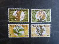 1995 TURKS & CAICOS Is ORCHIDS SET 4 MINT STAMPS