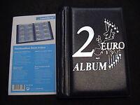 LEUCHTTURM ROUTE 2 EURO MINI ALBUM POCKET x 48 MONETE max 30 mm vuoto cod 350454