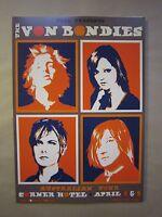 Von Bondies @ The Corner Melbourne 2006 Concert Poster Art Jazz Feldy