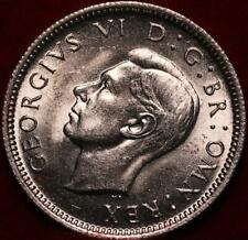 Uncirculated 1946 Great Britain 6 Pence Silver Foreign Coin