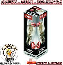 Eveready 220-240V 25w 300°C Oven Kitchen Appliance Lamp SES E14 Bulb Pygmy - UK