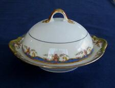 Vignaud St. Quentin – ROUND COVERED BUTTER DISH - Limoges France
