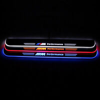 2pcs LED Light Door Sill Scuff Plate Trim Panel For BMW E63 E64 6 Series 2013-15