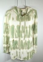Jane & Delaney Women's L Green Beach Tie Dye Sweatshirt Hoodie Top Blouse NWT