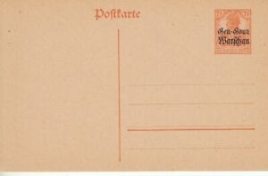 Occupation (I) . Wk German Post IN Poland Stationery P 5