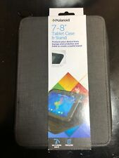 "Polaroid 7-8"" Universal Tablet Folio Case And Stand New. Protect, Watch Movies."