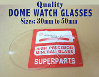 Dome Watch Crystals, Domed Mineral Glass for pocket & wrist watch, BEST QUALITY