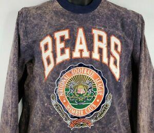 Vintage 90s Nutmeg Chicago Bears Blue Acid Wash Long Sleeve T-shirt Mens M USA