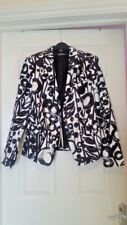 Lovely Cotton Esprit Blazer/Jacket, Black and White, Size 14, New with Tags!