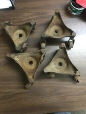 4 Vintage Kramer Bros. Dayton Oh Industrial Cast Iron Equipment or Stove Casters