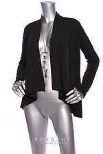 N/W-Defect DANA BUCHMAN Women LongSleeve Waterfall Ruffle Cardigan black  S