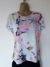 37e0c27e7bccc LOVELY LADIES TED BAKER FLORAL T SHIRT SZ 8( TB SZ 1) IN VGC