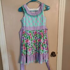 Girls size 12 Multi Colored Counting Daisies Dress