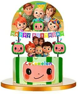 COCOMELON Themed Cupcake Birthday Cake Topper Party Supplies Decoration UK