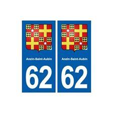 62 Anzin-Saint-Aubin blason autocollant plaque stickers ville arrondis