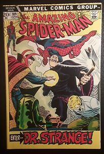 AMAZING SPIDER-MAN #109 VF/NM WHITE pgs! DOCTOR STRANGE! GORGEOUS BOOK!