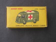 VINTAGE DINKY TOY # 80F AMBULANCE MILITAIRE RENAULT CARRIER  MINT ORIGINAL BOX