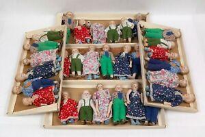 Dollhouse Miniature Porcelain Victorian Family 6 Dolls FIVE sets 1/12 scale