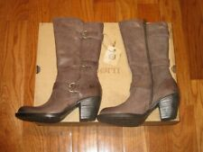 New Born Womens Maleri Buckle Leather Mid-Calf Boots Shoes 6M 8.5M Under