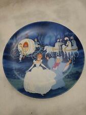 """Vintage Knowles Walt Disney Cinderella """"Bibbidi-Bobbidi-Boo """" Collector Plate Coa"""