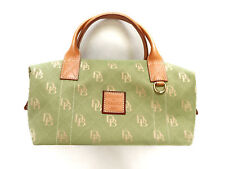 Dooney & Bourke Signature Canvas Green Duffle Handbag EUC + FREE SHIPPING
