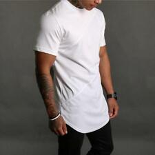 New Fashion Sexy Men T Shirts Tee Silm Fit Shirts Black and Whhite Tops Clothes