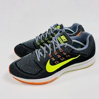 Nike Air Zoom Structure 18 Mens Running Shoes Grey Volt Black Crimson Size 12