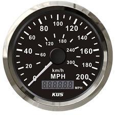85mm Black GPS Speedometer Gauge 200MPH 300Kmh Car Truck Motorcycle Waterproof