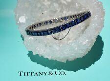 Tiffany & Co. 21 Carat Burma Sapphire & Platinum Art Deco Line Bracelet