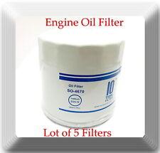 5 x SO4670 Engine Oil Filter Fits: 1969-1990 Chrysler Dodge Ford Nissan Toyota