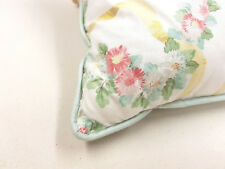 Yellow ribbon pink Flower Scatter Cushion 27 cm x 27 cm  Piped Pillow pad