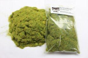Static Grass 4mm Bulk Bag 50g - Moss Green - Grass Flock First Class P&P