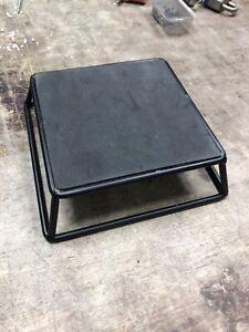 Food Display Riser Heavy Metal  6x6x2 Black New