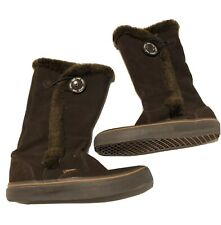 Vans Womens 6.5 Brown Phoebe Leather Boots Shoes