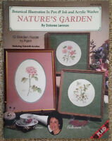 Natures Garden By Dolores Lennon Pen Ink Acrylic Washes Tole Painting Book 1992.