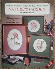 Natures Garden By Dolores Lennon Pen Ink Acrylic Washes Tole Painting Book 1992