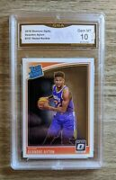 2018-19 Panini Optic Deandre Ayton Rated Rookie #157 GMA 10 COMPARE W/ PSA